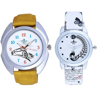 Ford Car And White Peacock Feathers Girls Analogue Watch By SCK