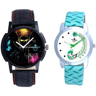Bhoot Colouring Dial And Green Peacock Feathers Girls Analogue Watch By SCK