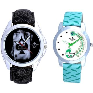 Life Akka And Green Peacock Feathers Girls Analogue Watch By SCK