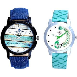 Colour themes And Green Peacock Feathers Girls Analogue Watch By SCK