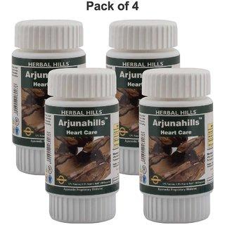 Herbal Hills Arjunahills 60 Capsules (Pack of 4)