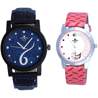 Six Art And Pink Peacock Feathers Girls Analogue Watch By SCK