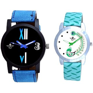 Awesome Dial And Green Peacock Feathers Girls Analogue Watch By SCK