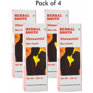 Herbal Hills Vitomanhills Herbal Shots 500ml (Pack of 4)
