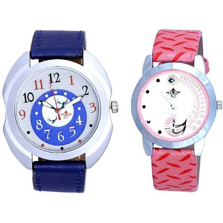 Bird Design And Pink Peacock Feathers Girls Analogue Watch By SCK