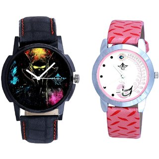Bhoot Colouring Dial And Pink Peacock Feathers Girls Analogue Watch By SCK