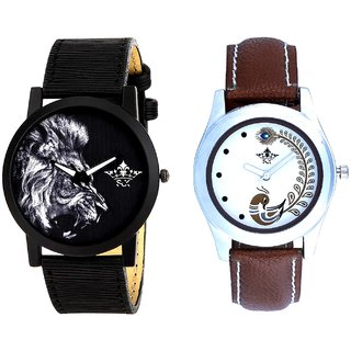 King Of Jungle And Brown Peacock Feathers Girls Analogue Watch By SCK