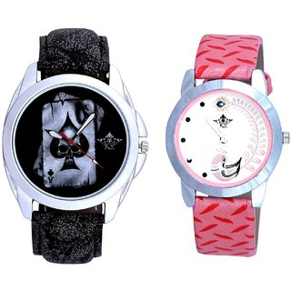 Life Akka And Pink Peacock Feathers Girls Analogue Watch By SCK