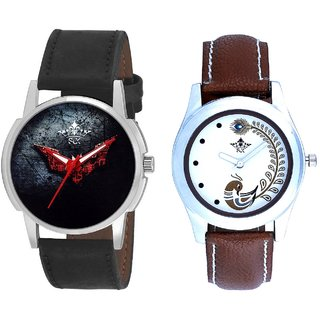 Sign Of Darkness And Brown Peacock Feathers Girls Analogue Watch By SCK