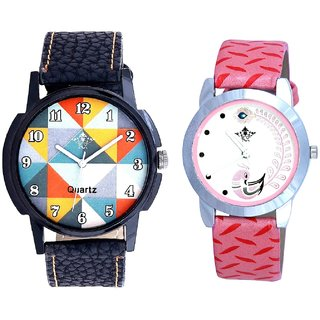 Orange Rangoli Design And Pink Peacock Feathers Girls Analogue Watch By SCK