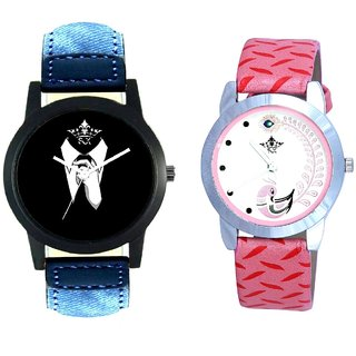 Gentlemen Tie And Pink Peacock Feathers Girls Analogue Watch By SCK