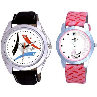 3D Tri Fan And Pink Peacock Feathers Girls Analogue Watch By SCK
