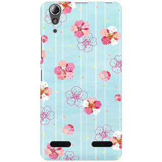 Mobicture Plums Blooming Premium Printed High Quality Polycarbonate Hard Back Case Cover For Lenovo A6000 Plus With Edge To Edge Printing