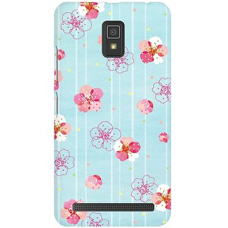 Mobicture Plums Blooming Premium Printed High Quality Polycarbonate Hard Back Case Cover For Lenovo A6600 With Edge To Edge Printing