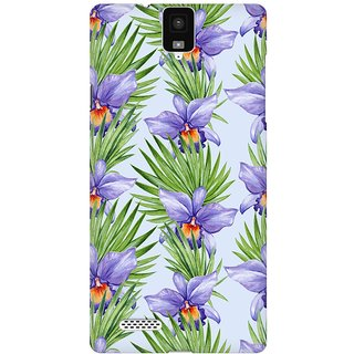 Mobicture Abstract Tropical Pattern Premium Printed High Quality Polycarbonate Hard Back Case Cover For InFocus M330 With Edge To Edge Printing