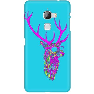 Mobicture Party Deer Premium Printed High Quality Polycarbonate Hard Back Case Cover For LeEco Le Max With Edge To Edge Printing