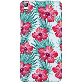 Mobicture Abstract Tropical Pattern Premium Printed High Quality Polycarbonate Hard Back Case Cover For Lenovo A7000 With Edge To Edge Printing