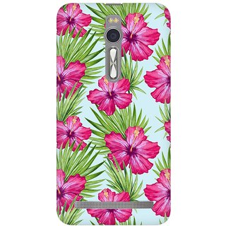 Mobicture Abstract Tropical Pattern Premium Printed High Quality Polycarbonate Hard Back Case Cover For Asus Zenfone 2 With Edge To Edge Printing