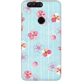 Mobicture Plums Blooming Premium Printed High Quality Polycarbonate Hard Back Case Cover For Huawei Honor 8 With Edge To Edge Printing