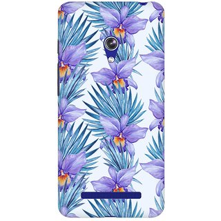 Mobicture Abstract Tropical Pattern Premium Printed High Quality Polycarbonate Hard Back Case Cover For Asus Zenfone Go With Edge To Edge Printing