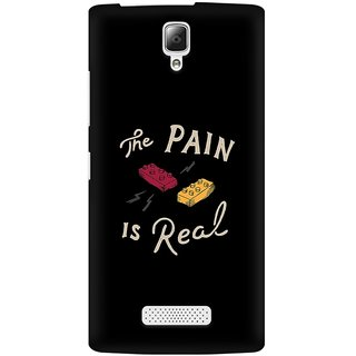 Mobicture Real Pain Premium Printed High Quality Polycarbonate Hard Back Case Cover For Lenovo A2010 With Edge To Edge Printing