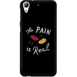 Mobicture Real Pain Premium Printed High Quality Polycarbonate Hard Back Case Cover For HTC Desire 626 With Edge To Edge Printing