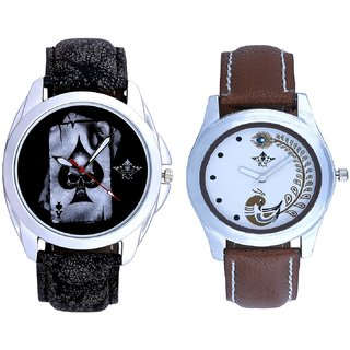 Death Race Akka And Brown Leather Strap Analogue Watch By SCK