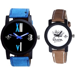 Roman Art And Queen Leather Strap Analogue Watch By SCK