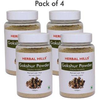 Herbal Hills Gokshur Powder - 100 gms (Pack of 4)