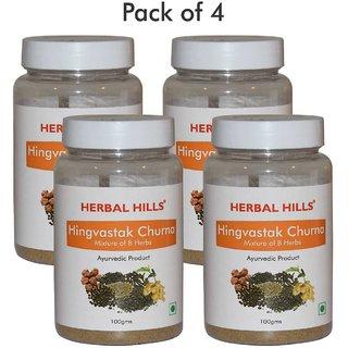 Herbal Hills Hingvastak Churna - 100 gms (Pack of 4)