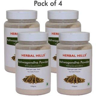Herbal Hills Ashwagandha Powder - 100 gms (Pack of 4)