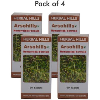 Herbal Hills Arsohills 60 Tablets - Pack of 4