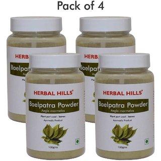Herbal Hills Baelpatra Powder - 100 gms (Pack of 4)
