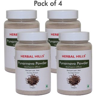 Herbal Hills Punarnava Powder - 100 gms (Pack of 4)
