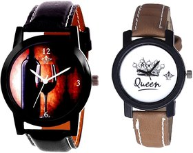 Royal Wine Glass And Queen Taj Girls Analogue Watch By