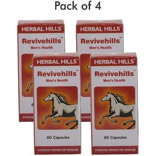 Herbal Hills Revivehills 60 Capsules - Pack of 4