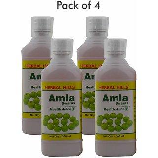 Herbal Hills Amla Juice  500 ml (Pack of 4)