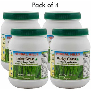 Herbal Hills Barley  Grass 100 Gms Powder (Pack of 4)