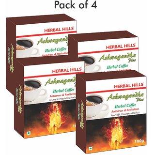 Herbal Hills Ashwagandha herbal Coffee - 100 gms - Pack of 4