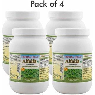 Herbal Hills Alfalfa - Value Pack 900 Tablets (Pack of 4)