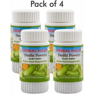 Herbal Hills Dudhi Power (Bottle Gourd) 60 Tablets (Pack of 4)