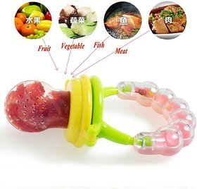 Koochiekoo Fresh Fruit Vegetables Food Nibbler Cum Rattle Teether Rattle