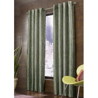Beautiful Digital Floral Prints Window And Door Curtains (Set Of 2) - 4 X 7 feet