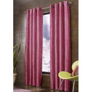 Beautiful Digital Floral Prints Window And Door Curtains (Set Of 2) - 4 X 9 feet