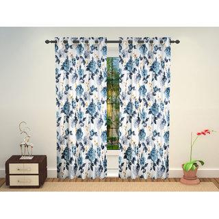 Beautiful Digital Floral Prints high quality Long Door Eyelet Curtains Set Of 2 Pc 4 x 7 Feet