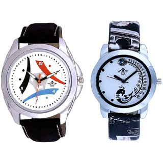 3D Tri Fan And Black Peacock Feathers Girls Analogue Watch By Harmi Exim