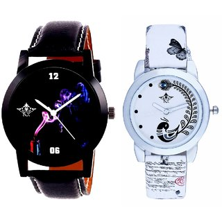 Colouring Spring Cigar And White Peacock Feathers Girls Analogue Watch By Harmi Exim