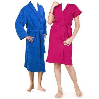 Bath Robe/ Gown 100% Cotton Standard Size (set of 2)