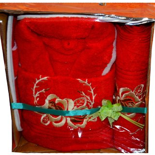 Embroideried Bath Robe Set in Gift Box