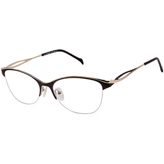 David Blake Brown Cat-eye Women Spectacle Frame